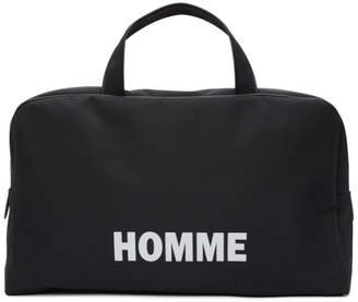 Comme des Garcons Homme Homme Black Nylon Oxford Duffle Bag