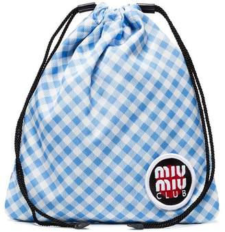 Miu Miu (ミュウミュウ) - Miu Miu ギンガム ポーチ