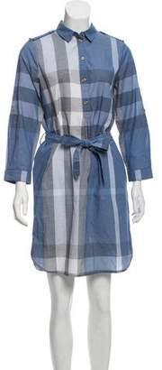 Burberry Exploded Check Knee-Length Dress
