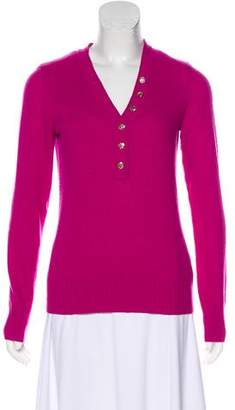 Tory Burch Long Sleeve V-Neck Sweater
