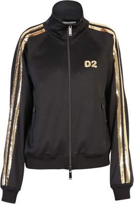 DSQUARED2 Black Sequinned Sweatshirt