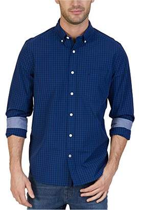 Nautica Men's Standard Long Sleeve Gingham Plaid Button Down Shirt