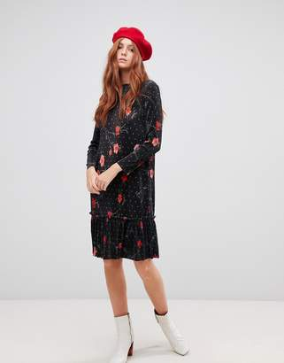 Vero Moda floral dot shift dress