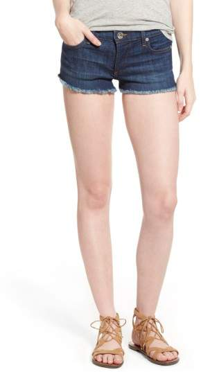 True Religion Brand Jeans Joey Flap Pocket Cutoff Denim Shorts