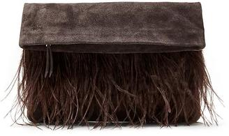 Medium Foldover Fringe Clutch $128 thestylecure.com