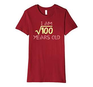 Square Root of 100 : 10th Birthday 10 Years Old T-Shirt