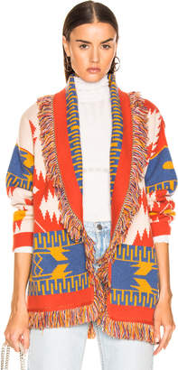 Alanui Icon Jacquard Cardigan in Chinchilla | FWRD