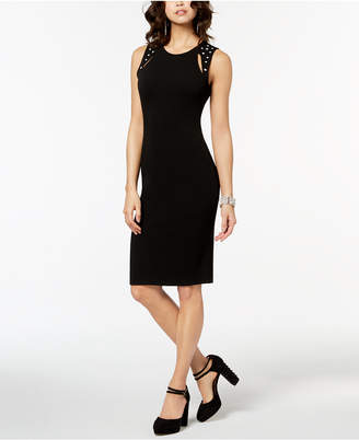 Almost Famous Juniors' Embellished Cutout Sheath Dress