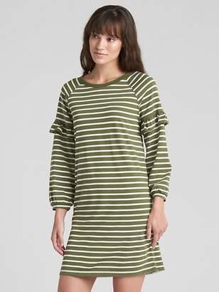 Gap Ruffle Balloon Sleeve Stripe Dress