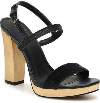 Calvin Klein Bambii Velvet Platform Sandal - Women's