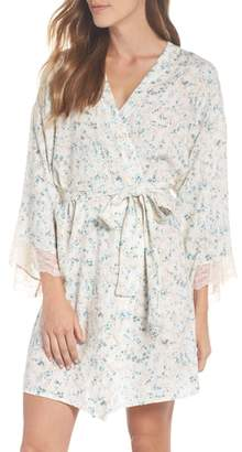 Eberjey Lily Stretch Silk Short Robe