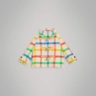Burberry Childrens Check Wool Twill Duffle Coat