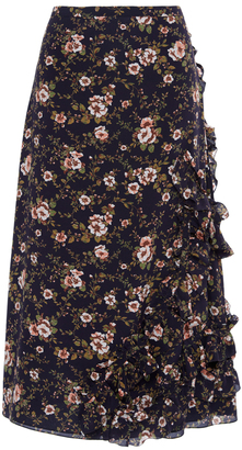 Rochas Floral Ruffle Skirt $1,595 thestylecure.com