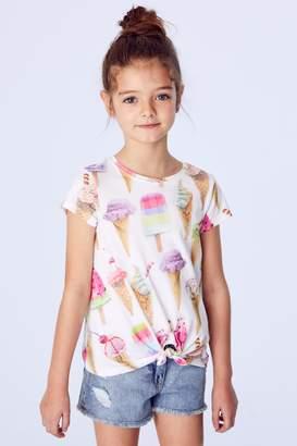 Next Girls Ecru Ice Cream T-Shirt (3-16yrs)