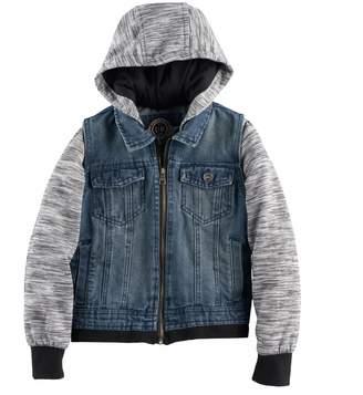 Urban Republic Toddler Boy Denim Vest Fleece Lightweight Jacket