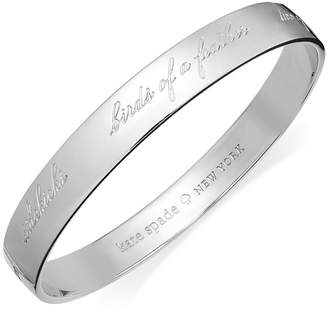 Kate Spade Bridesmaid Engraved Idiom Bangle Bracelet