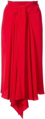 Tome tie waist asymmetrical skirt