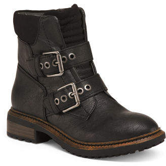 Double Buckle Moto Booties