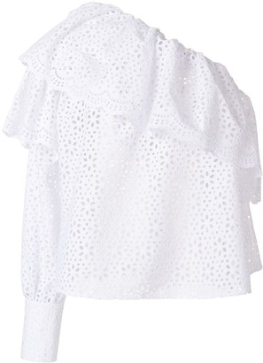 MSGM broderie anglaise ruffled blouse