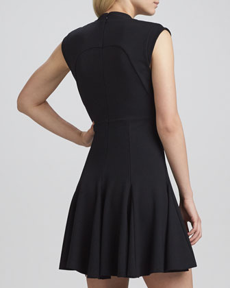 French Connection Marie Classic Stretch Dress, Black