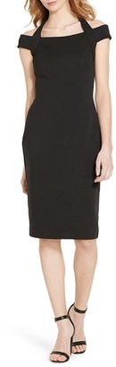 Women's Lauren Ralph Lauren Ponte Sheath Dress $159 thestylecure.com