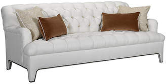 Beverly Tufted Sofa - Ivory Linen - Mark D. Sikes