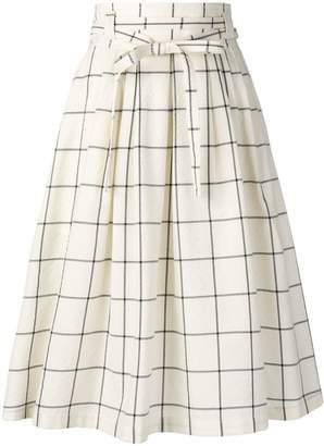 Paul Smith check print A-line skirt