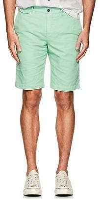 Pt01 Men's Linen-Cotton Bermuda Shorts - Lt. Green