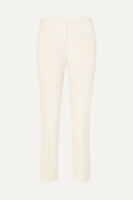 By Malene Birger Santsi Cotton-blend Cady Tapered Pants - Cream