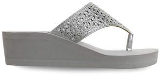 OLIVIA MILLER Pensacola Multi Heat Sealed Rhinestone Wedge Sandals Women Shoes