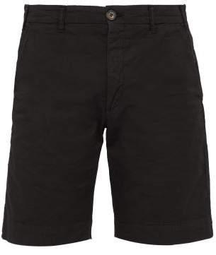 J.w.brine J.W. Brine J.w. Brine - Chris Stretch Cotton Twill Shorts - Mens - Black