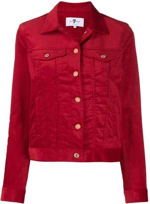 7 For All Mankind corduroy button jacket