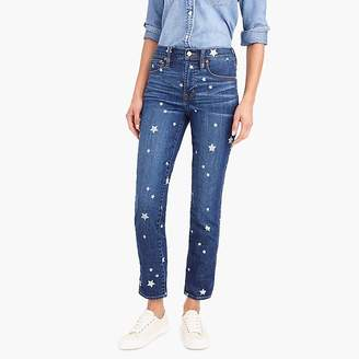 J.Crew Vintage straight jean with star print
