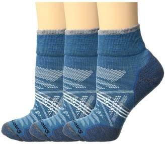 Smartwool PhD Outdoor Light Mini 3-Pack Women's Quarter Length Socks Shoes