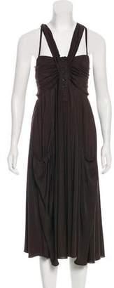 Marc by Marc Jacobs Metallic Sleeveless Midi Dress
