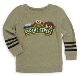 Lauren Moshi Little Boy's& Boy's Rocky Sesame Street Striped Pullover