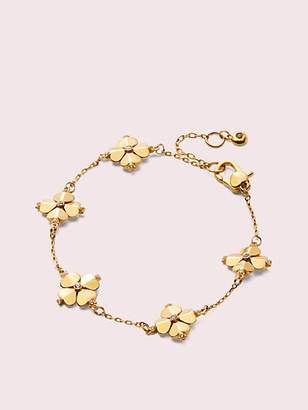 Kate Spade Legacy Logo Spade Flower Bracelet, Clear/Gold