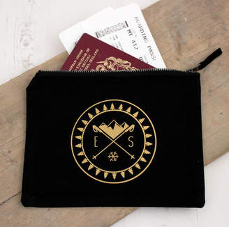 Nordic Precious Little Plum Monogram Winter Passport Case