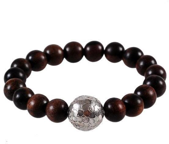 Chan Luu Wood Silver Ball In Brown