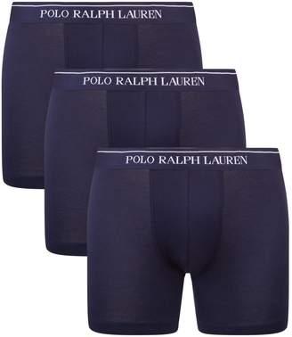 Polo Ralph Lauren Logo Waistband Boxer Briefs (Set of 3)