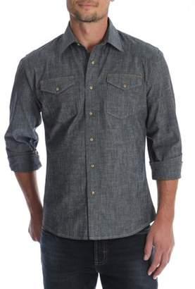 Wrangler Men's and Big & Tall Premium Slim Fit Denim Shirt, up to Size 5XL