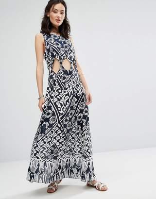 Raga Tropic Blues Cut Out Dress