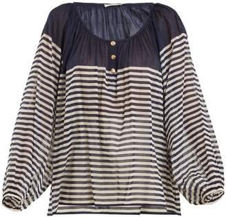 Mes Demoiselles Forward striped cotton shirt
