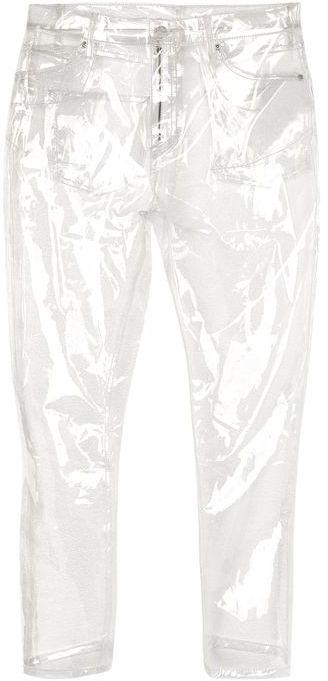 TopshopTopshop Moto clear plastic straight leg jeans