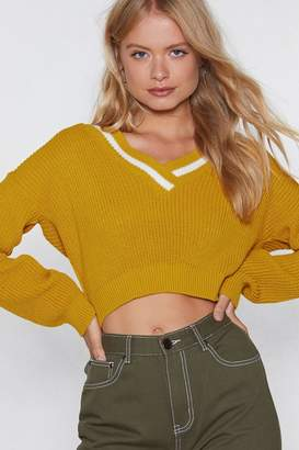 Nasty Gal Tell Me About Knit Cropped Sweater