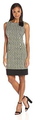 Ronni Nicole Women's Sleevless Banded Bottom Sheath Dress