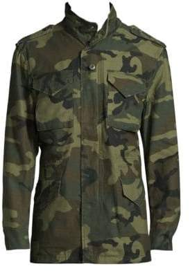 Alpha Industries Men's M65 Defender Camouflage Field Jacket - Woodland Camo - Size Large