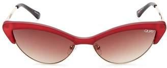 Quay Women's x Finders Keepers All Night Slim Cat Eye Sunglasses, 42mm