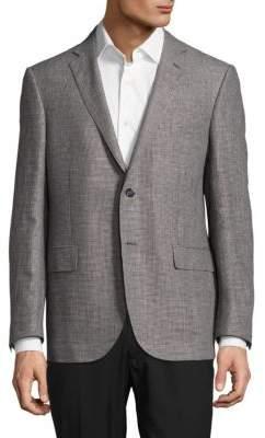 CornelianiHoundstooth Wool-Blend Jacket