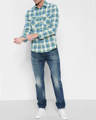 7 For All Mankind 100% Cotton Adrien Easy Slim with Clean Pocket in Legend
